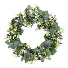Simulation Eucalyptus Money Leaf Artificial Wreath Door Threshold Flower Diy Wedding Home Party Pendant Wall Decor