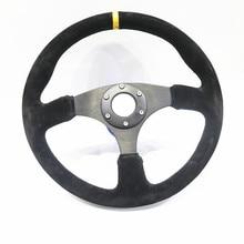 Spsld refitting racing 14 inch 350mm flat drift steering wheel / Suede steering wheel