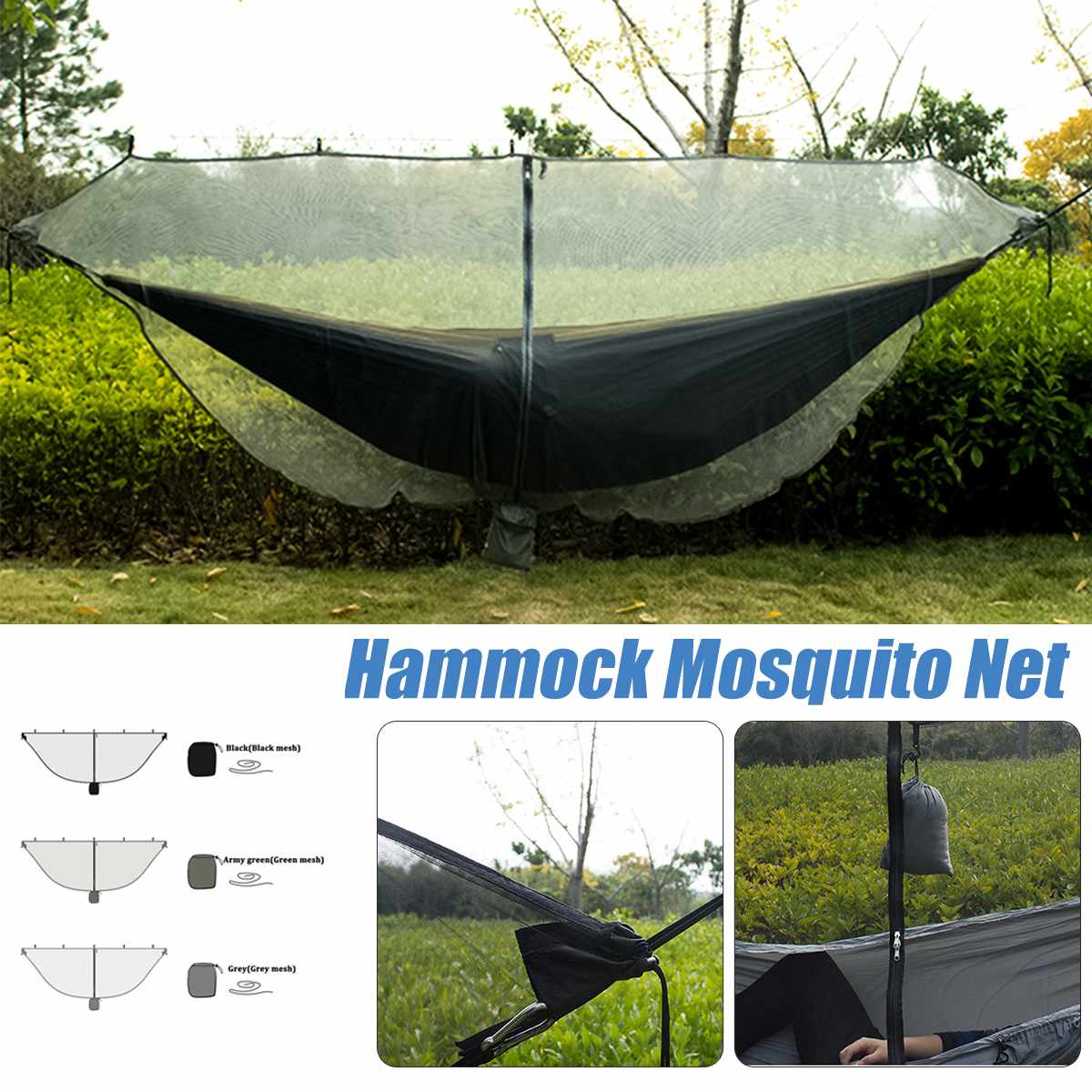 Portable Separation Hammock Mosquito Account Travel Lightweight Rugged Nylon Mesh Hammock Mosquito Net Outdoor Products
