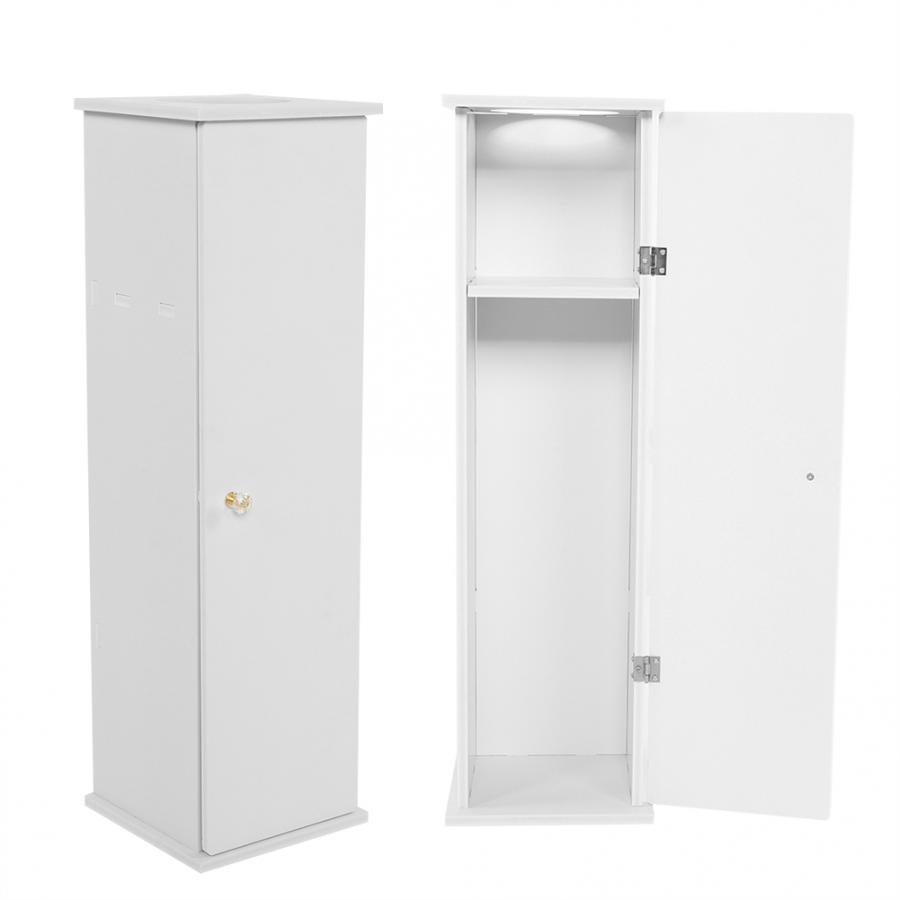 Free Standing White Toilet Paper Bathroom Cabinet Holder Toilet Cabinet