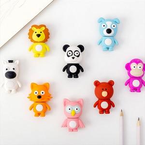 Panda animal Rubber Erasers Pencil Eraser Students Stationery School Supplies For Children Kids Gift Eraser