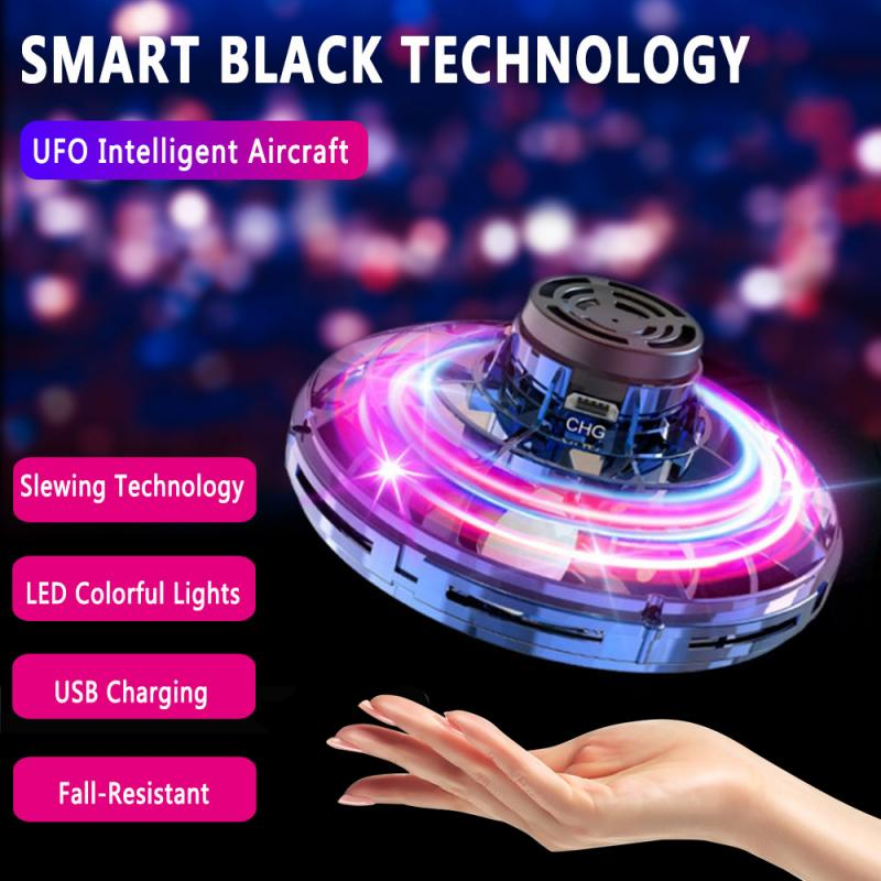 Flynova Athletic Antistress Hand Mini Flying Toy Rotator Drone UFO Led Finger Spinner Rotary Child Christmas New Year Gift