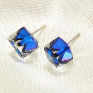 Cube Earrings 925 Sterling Sil