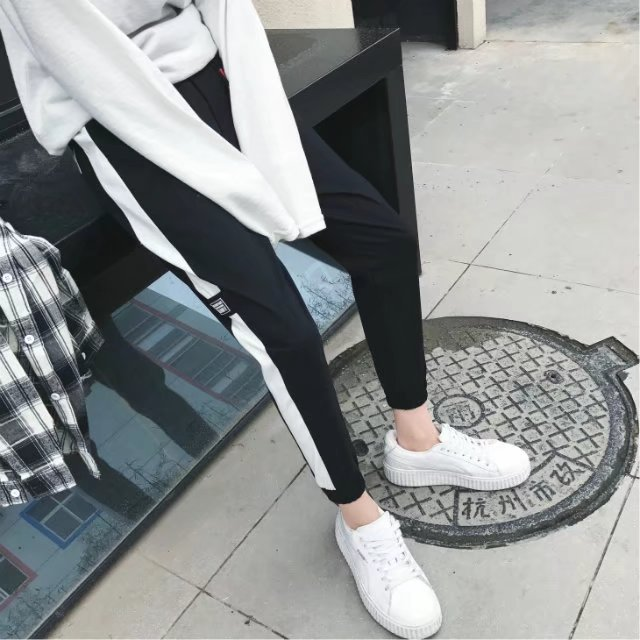Autumn Pants MEN'S Ninth Pants Korean-style Trend Athletic Pants Thin Skinny Harem Pants Ankle Banded Pants Slim Fit Casual Pant