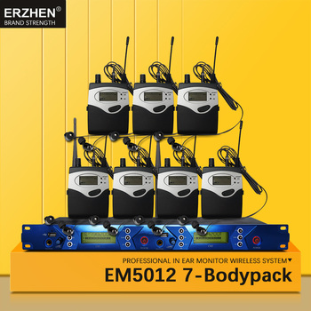 EM5012 In Ear Monitor Wireless System SR2050 Double transmitter Monitoring 7 bodypack Professional for studio Stage Performance