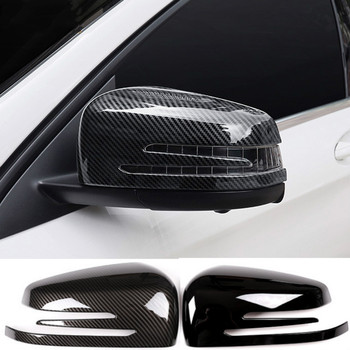 1 Pair Car Auto Carbon Fiber Side Rearview Mirror Cap Cover Trim for Mercedes Benz A B C E GLA Class W204 W212 high quality fashion and durable for benz c class w204 models car mirror covers carbon fiber refit