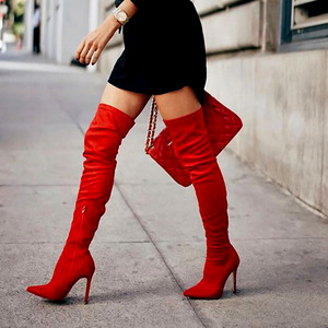 Image 2 - Brand New womens shoes woman Plus Large big size 32 48 over the knee boots thin high heel sexy Party Boots botas de mujer 2020