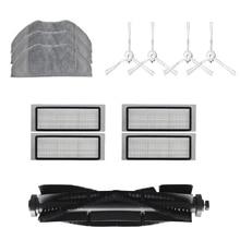 Cepillo de rodillo con filtro Hepa, paño de mopa de repuesto para 360 S5 S7, piezas de limpiador al vacío, accesorios, Cepillo Lateral de filtro, 12 Uds.