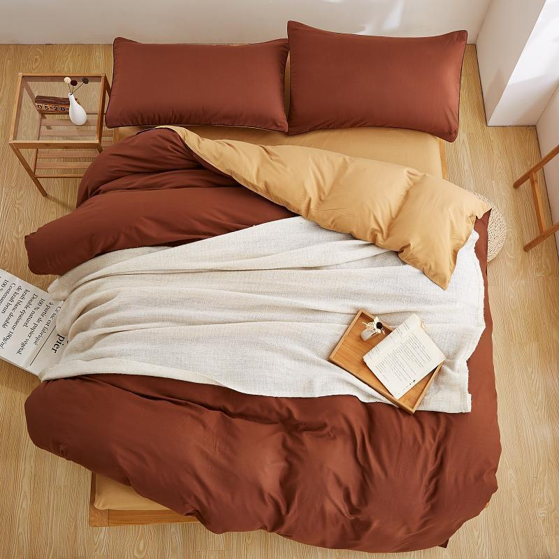 Best Coffee color Polyester Microfiber Bed Sheet Sets