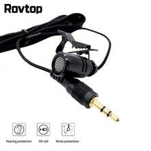 Rovtop 2,5 м всенаправленный металлический микрофон 3,5 мм разъем Lavalier зажимной микрофон мини аудио Микрофон для компьютера ноутбука телефона