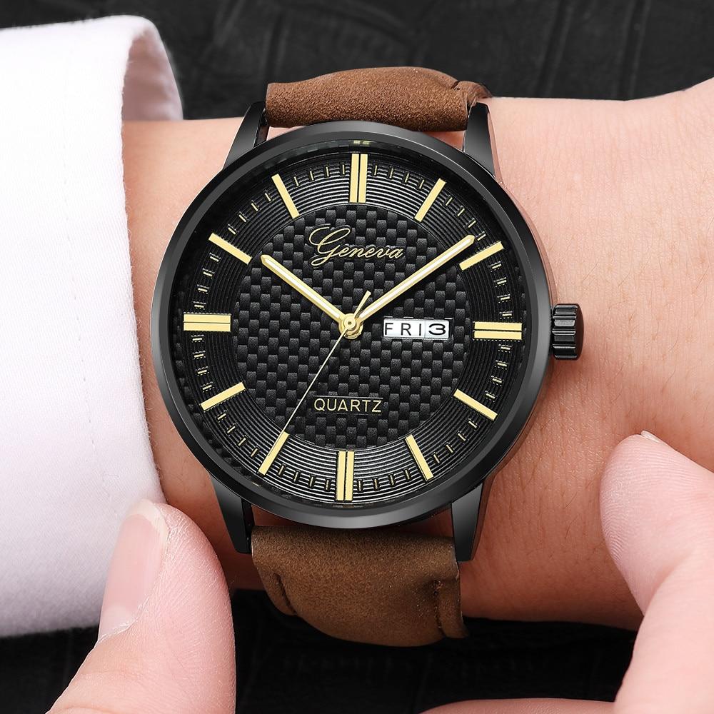 Модные мужские женские часы Роскошные Кварцевые Спортивные армейские с Циферблатом из нержавеющей стали наручные часы с кожаным ремешком|Женские часы|   | АлиЭкспресс