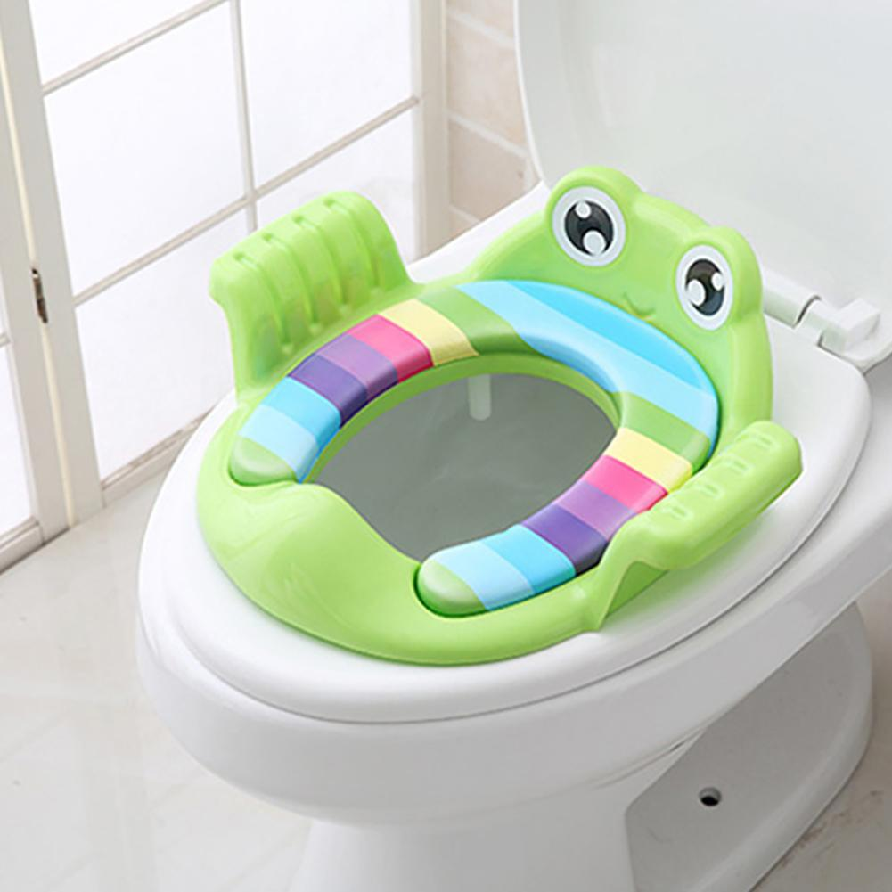 Frog Shape Baby Unisex Soft Padded Round Potty Training Toilet Seat With Handles