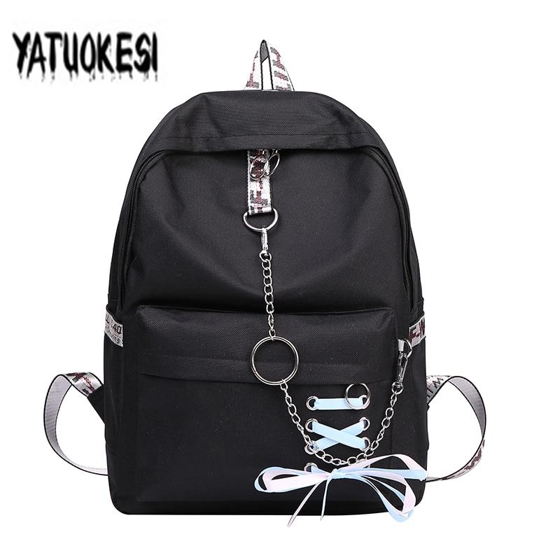 YATUOKESI Fashion Girl Schoolbag Students Laptop Backpack School Bags For Teenage Girls Women Backpacks Mochila Infantil Escolar