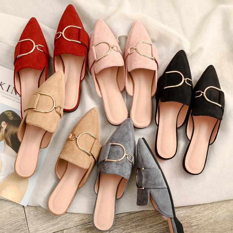 2021 In the spring designer outdoorshoes woman mules platform slippers sandalias de verano para mujer zapatos de mujer calzado|Women's Flats| - AliExpress