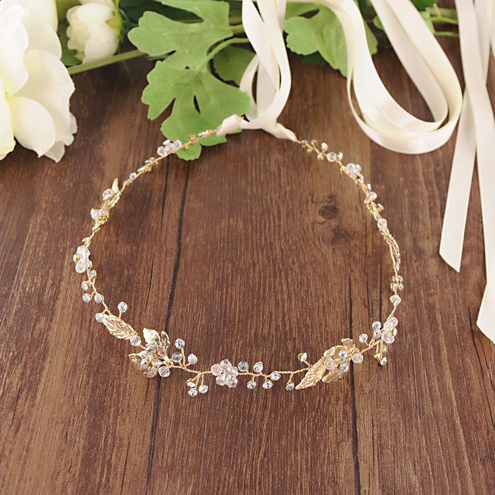 Купить с кэшбэком TRiXY SH122 Golden Leaf Wedding Sash Belt Floral Bridal Sash Black and Rhinestone Sashes for Bridesmaids Dresses Belt