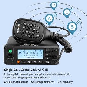 Image 4 - Retevis RT90 DMR דיגיטלי נייד רדיו שני בדרך רדיו ווקי טוקי 50W VHF UHF Dual Band חם חובב רדיו משדר + כבל