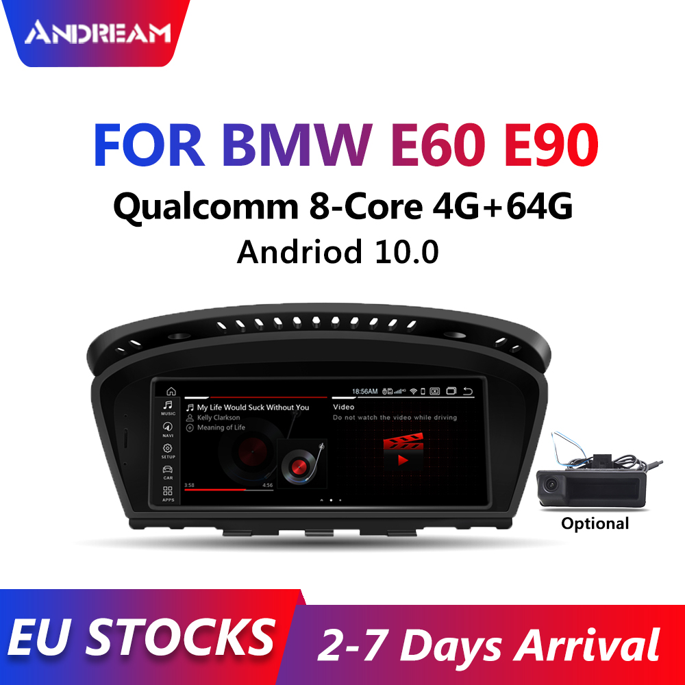 Andream устройство, док-станция Qualcomm 8-core, 4 Гб + 64G Встроенный 4 аппарат не привязан к оператору сотовой связи андроид 10 Автомобильный мультимедий...