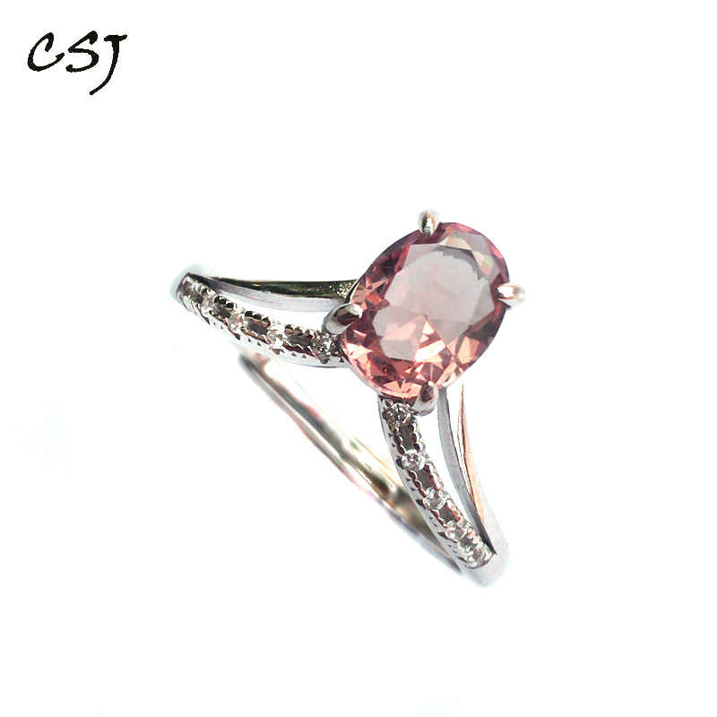 CSJ Elegant Zultanite Ring Sterling 925 Silver Created sultanite Color Change Fine Jewelry Women Party Wedding Gift