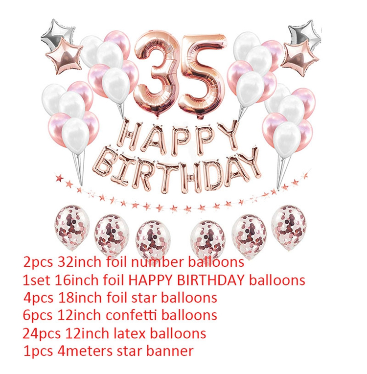Rose Gold Number Balloon 35 7th Rose Gold Number Seven Balloon Rose Gold Balloon 35 Inch Rose Gold Number 7 Balloon