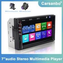 2 din 7 Polegada tela de toque rádio do carro estéreo multimídia player sd usb aux espelho ligação mp3 mp5 bluetooth fm tf monitor do carro
