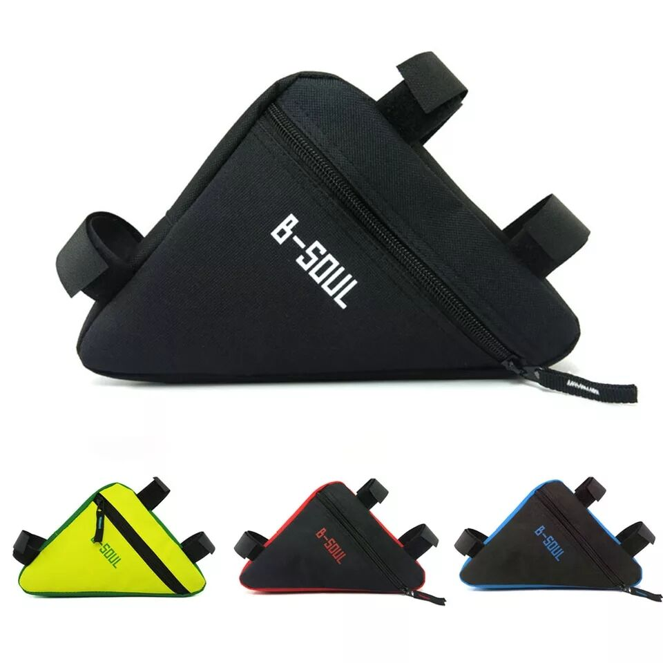 4-color Waterproof Triangle Bag Bicycle Front Tube Rack Outdoor Riding Saddle Bracket Accessories