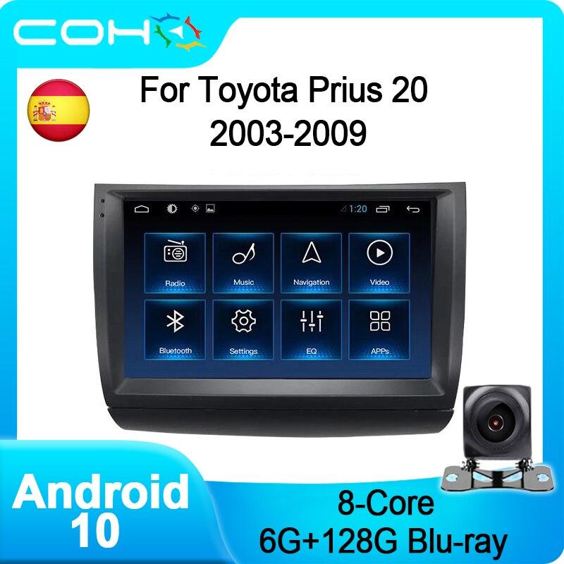 Кижуч для Toyota Prius 20 2003-2009 Android 10,0 8-ядерный 6 + 128 Gps навигации Автомобильный мультимедийный плеер радио