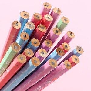 Image 2 - 100 個かわいい木の鉛筆hbグラファイト鉛筆学校事務用品かわいい文房具クリスマス賞品子供のための送料無料