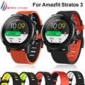 Ремешок силиконовый для смарт-часов Xiaomi Huami Amazfit Stratos 3 2 2S, сменный Браслет, аксессуары для Amazfit Pace, новинка 2020