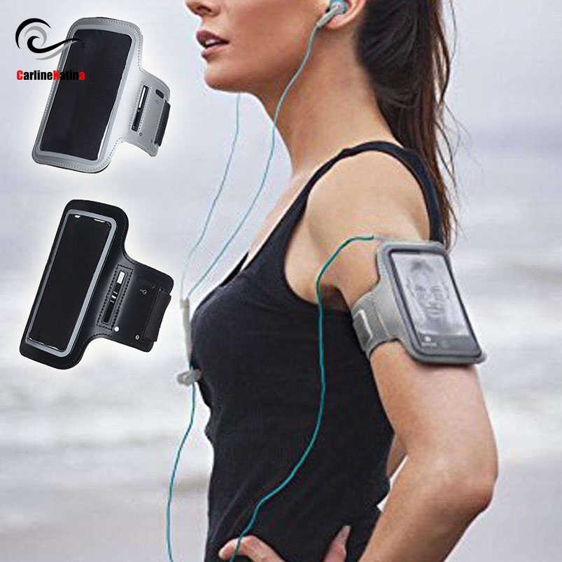 BLACK Waterproof Gym Sports Running Armband for Iphone 11 Pro Max Xs Max XR X 8 4s 5s 5c 6 6s 7 7s Plus Arm Band Phone Bag Case