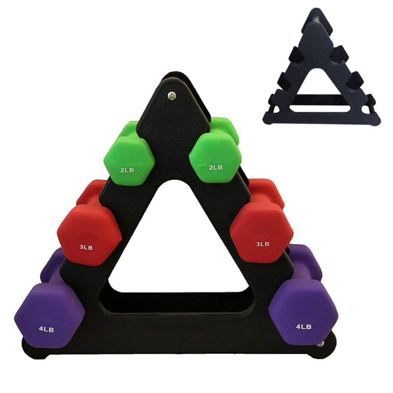 Durable Weight Dumbbell Bracket Triangle Small Leaves Big Leaves Different Shapes Dumbbell Bracket Fitness Equipment Accessories