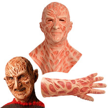 Freddy Krueger Cosplay Guanti Maschera di Halloween A Nightmare on Elm Street Maschera Costume Horror Lattice Copricapo(China)