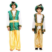 Homme islamique vêtements arabe Jubba Thobe arabie saoudite Abaya dubaï fête Performance enfants adulte Prince arabe vêtements pantalon ensemble(China)