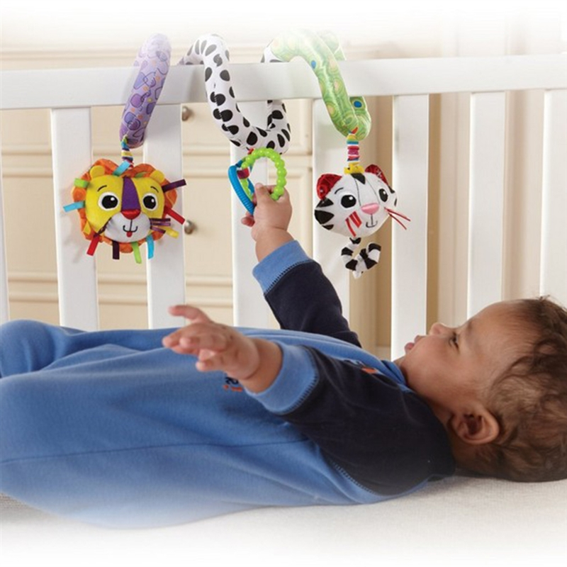 0-12 Months Newborn Educational Toy For Children Kids Toys Hanging Spiral Rattle Stroller Cute Animals Crib Mobile Bed Baby Toys