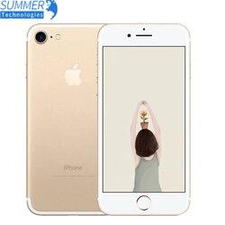 Apple iPhone 7 linii papilarnych 12MP oryginalny telefon komórkowy Quad Core 2GB RAM 32/128GB/256GB IOS touch ID LTE 12.0MP iphone7 Apple