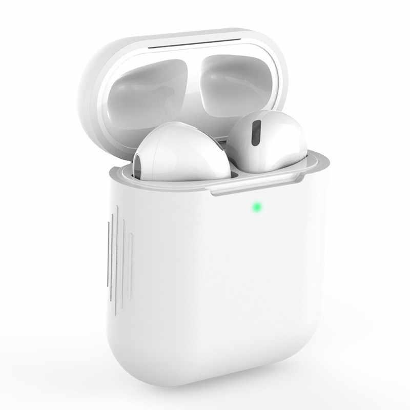 Nowy silikonowe etui dla Airpods1 2nd luksusowe ochronna osłona na słuchawki Case dla apple airpods przypadku 1 i 2 odporny na wstrząsy rękaw
