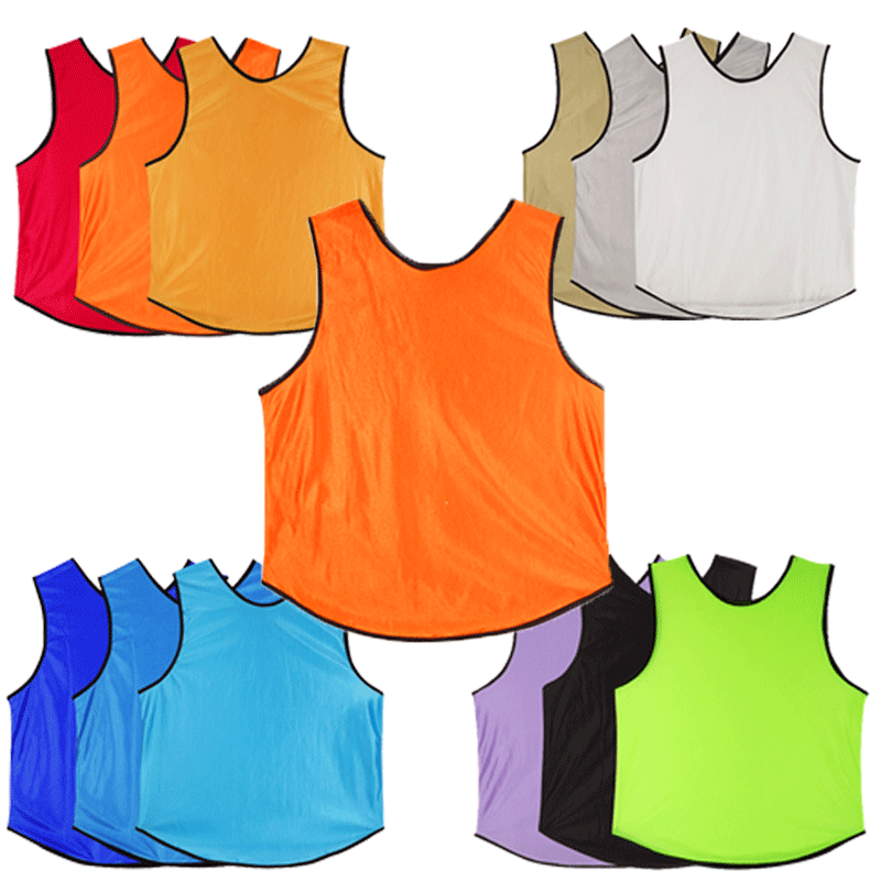Men Children Soccer Team Vest 100% Polyester Basketball Jersey Breathable Team Sports Vest Training Bibs