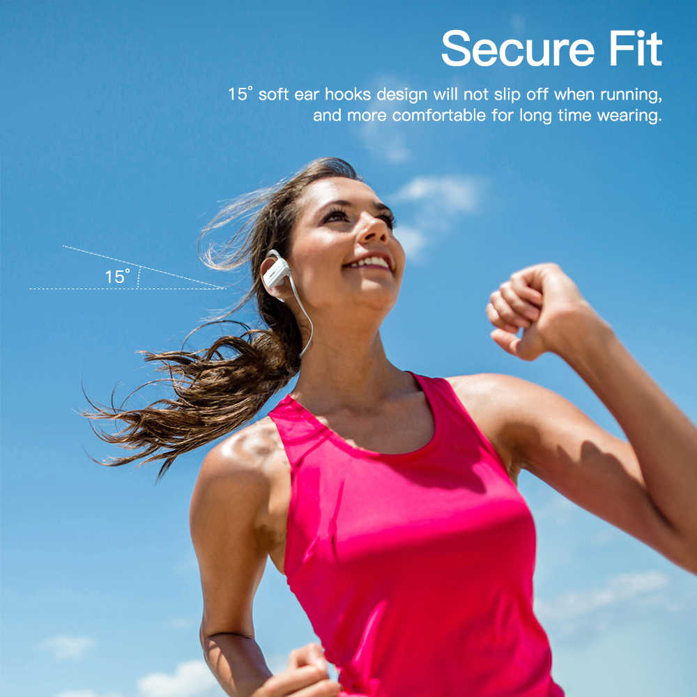 GGMM W600 auriculares Bluetooth inalámbricos auriculares Bluetooth con micrófono Cancelación de ruido auriculares estéreo auriculares deportivos para correr