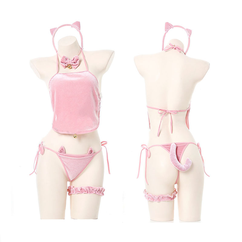 Sexy Lingerie Set Cute Pig Cosplay Uniform Release Bellyband Underwear Sex Toy Glove Nightwear Sleepwear For Women Dropship