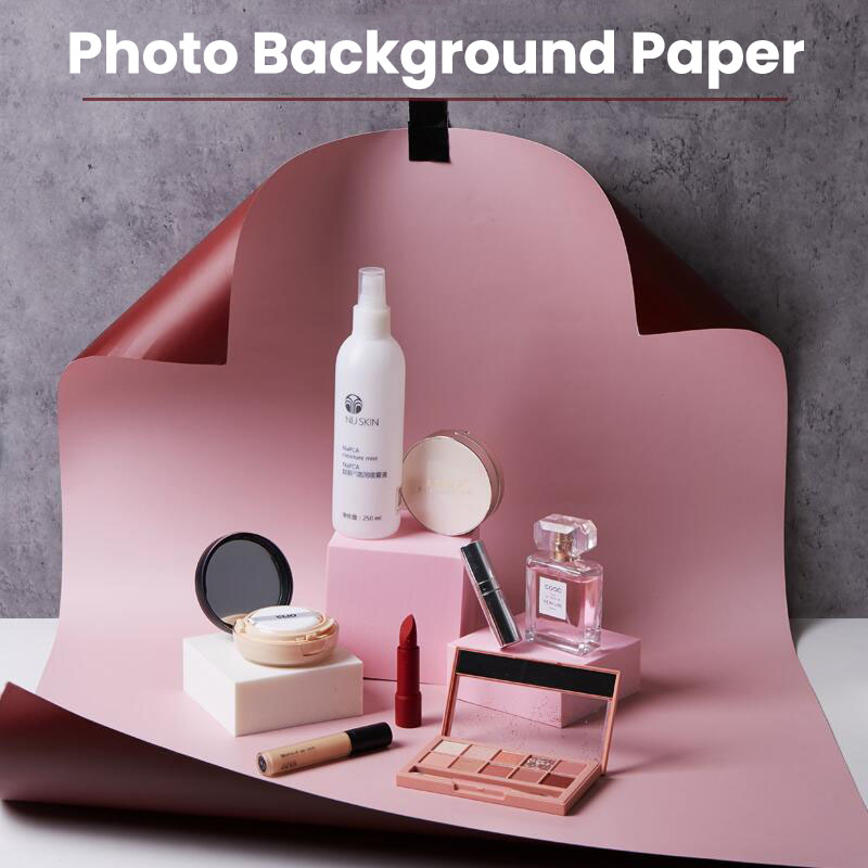 34-Color Double-Sided Use of Photo Studio Photography Background Paper, Desktop Photo Background Props, Surface Waterproof