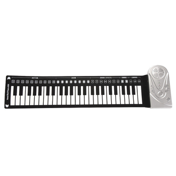Electronic Keyboard Multi Style Flexible Folding Musical Instrument Roll-Up Piano Portable Student 49 Keys Children Recording