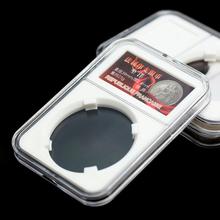 40 sztuk ulepszone płyty ekspozycyjne z wkładkami do kolekcjonerskich monet medale Holder futerał do przechowywania organizator Box tanie tanio CN (pochodzenie) Z tworzywa sztucznego Coin Storage Slab Transparent Coin Collection Supplies Coin Holder 10Pcs