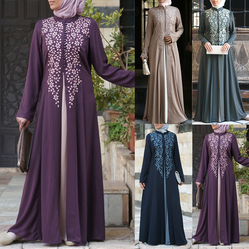 Bangladesh Dubai Abaya For Women Pakistan Muslim Dress Turkish Caftan Moroccan Hijab Evening Dress Fake 2 Pieces Islamic Clothes