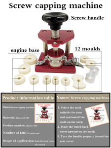 Capping-Machine Watch-Tool -Press Screw-Table