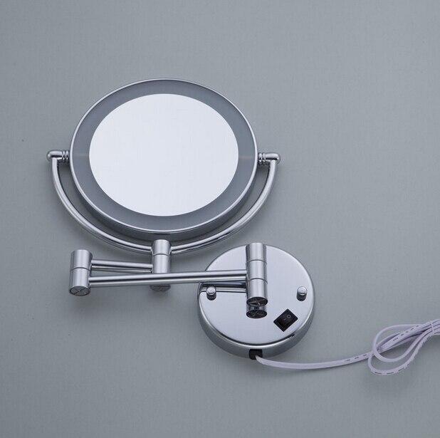 redondo led maquiagem espelho bateria compõem espelhos privados da senhora