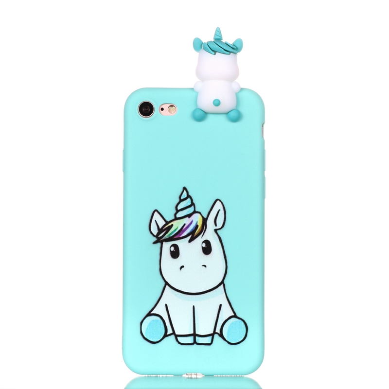 Coque for iPhone SE 2020 Case Kawaii 3D Unicorn Panda Dog Silicone Case Cover on for Funda iPhone 5 5S SE 2020 Phone Case Women 2