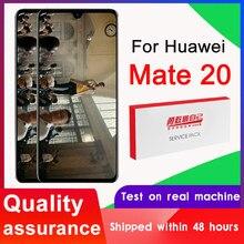 100% test 6.53 ''ekran değiştirme Huawei Mate 20 için LCD dokunmatik ekran Digitizer meclisi HMA-L29 L09 LX9 AL00 TL00