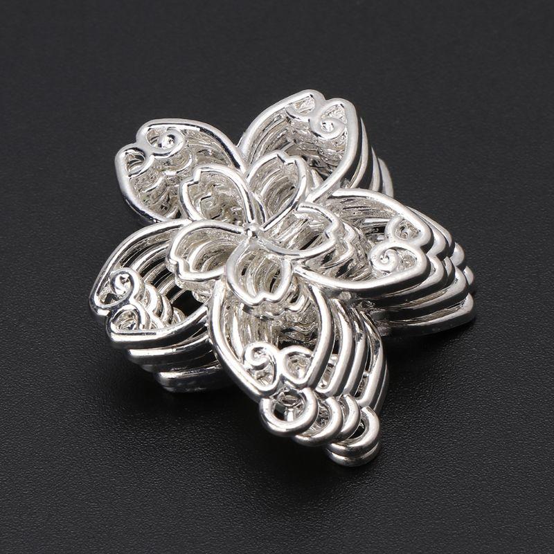 5 Pcs DIY Handmade Pendant Jewelry Frame Mold Cherry Blossom Petals Border Glue UV Resin Epoxy Glue Metal Hollow Borders N58F