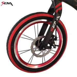 Image 5 - 16 pouces SEMA carbone vélo pour enfants super léger ajustement 4 ans à 9 ans garçon et fille vélo carbone guidon carbone tige de selle