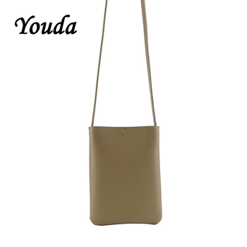Youda Original Solid Color PU Material Ladies Mobile Phone Pouch Classic Style Simple Girl Messenger Bag Portable Shoulder Bags 1