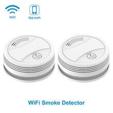 SM05W 2pcs/Lot Wifi Detector Smoke Tuya rookmelder Smoke Sensor Protection Fire Smoke Home Alarm System detector humo wifi
